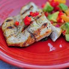 Grilled Barramundi with Avocado Orange Salsa