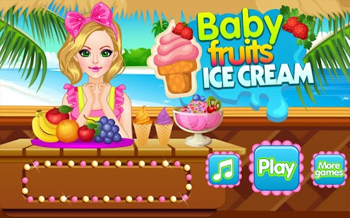 Baby Fruits Ice Cream maker - screenshot