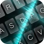 Keyboard Black Cyan Theme APK for Bluestacks