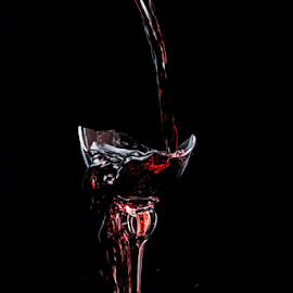 Too much by Vibeke Friis - Food & Drink Alcohol & Drinks ( red wine, broken glass,  )