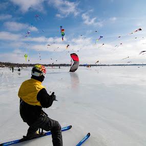 Kiteski by Bob White - Sports & Fitness Snow Sports ( kiteski kite wind ice lake string love,  )