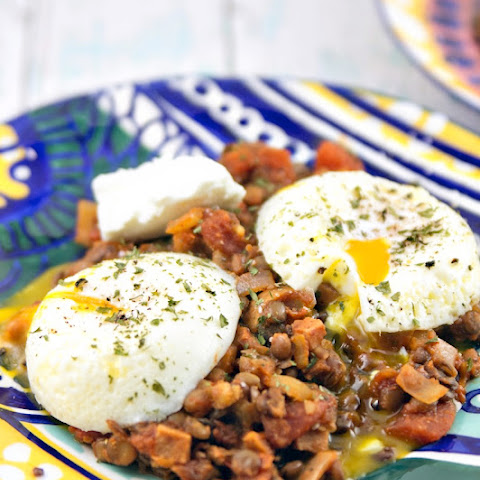 Indian Spiced Lentils with Poached Eggs