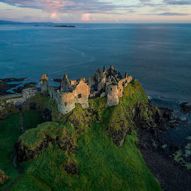 Dunluce at Dawn by Jim Hamel - Landscapes Travel ( ireland, dunluce, ruins, castle, antrim, coast )