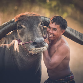 by Visoot Uthairam - People Street & Candids ( laos, person, holding, thailand, little, thai, beauty, long, cute, spring, people, asian, hat, curly, nature, farmer, hands, happy, woman, family, cambodian, lifestyle, asia, lovely, worker, cheerful, hair, smiling, animal, work, buffalo, rice, park, grass, green, beautiful, leisure, vietnam, happiness, portrait, field, myanmar, female, background, outdoor, suit, meadow, healthy, summer )
