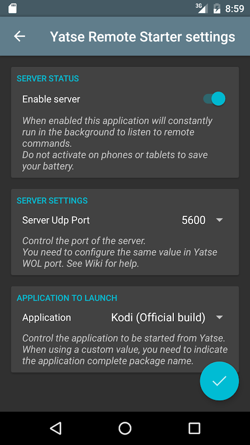 Yatse Remote Starter (Beta) Screenshot 0