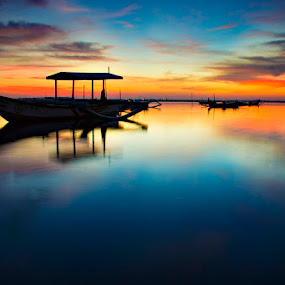 The Boat by Agus Devayana - Landscapes Sunsets & Sunrises