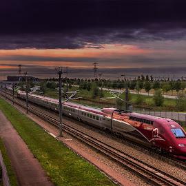 Thalys PBKA train  by Rémon Lourier - Transportation Trains ( rails, holland, train, high speed, fast, thalys )