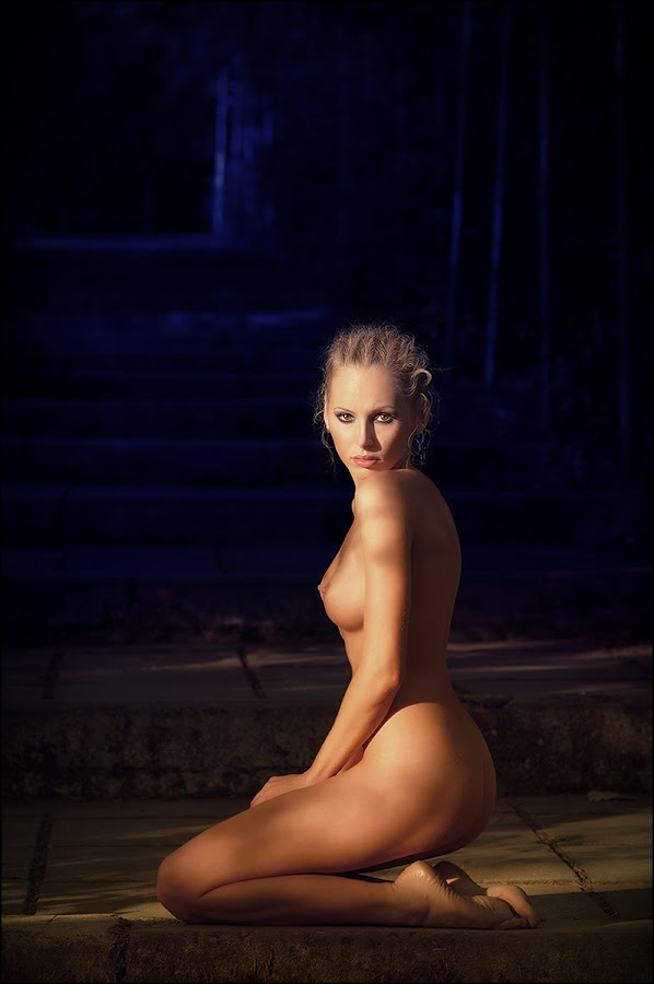 Nightfall by Andrei Kisliak - Nudes & Boudoir Artistic Nude ( look, girl, nude, dark, nightfall )