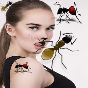 Ants on picture screen funny joke : free download APK