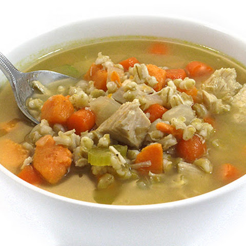 Amazingly Delicious Turkey Barley and Sweet Potato Soup
