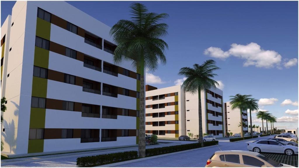 Apartamento com 2 dormitórios à venda, 48 m² por R$ 154.000 - Nova Betânia - Mossoró/RN