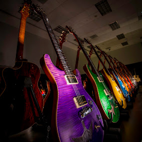 Guitar Color variations by Jerome Obille - Artistic Objects Musical Instruments ( music, artistic, guitar, intrument, objects, Music, Instrument, Contest )