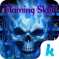Flaming Skull Kika Keyboard APK for Bluestacks