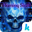 APK App Flaming Skull Kika Keyboard for iOS