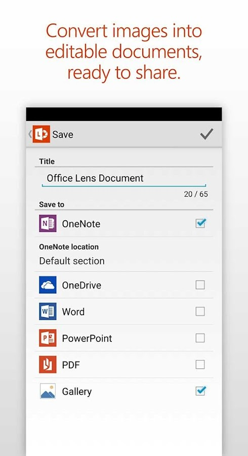Office Lens Screenshot 4