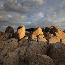 rocks by Alessandra Antonini - Landscapes Caves & Formations ( clouds, sky, sunset, landscape, rocks )