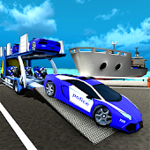 Polizeiauto Transporter Schiff