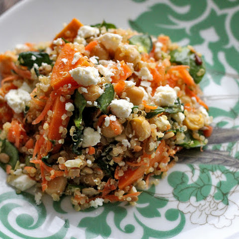 Quinoa Salad with Roasted Yams and Chickpeas