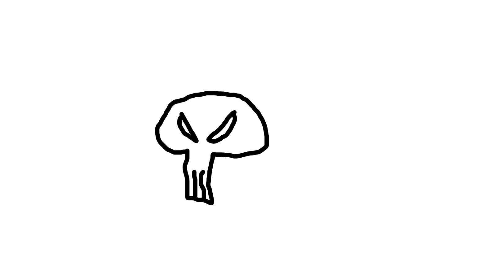 my first and most dumb skull ever
