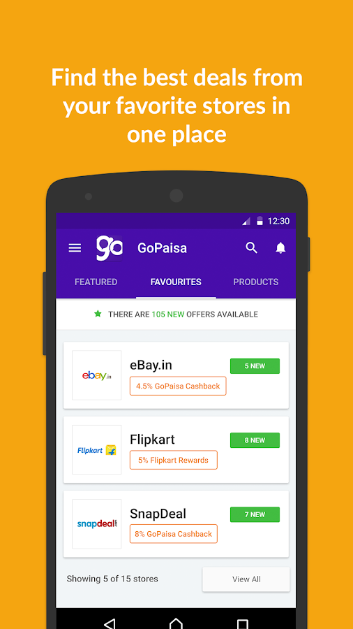 GoPaisa Cashback Coupons Deals Screenshot 1