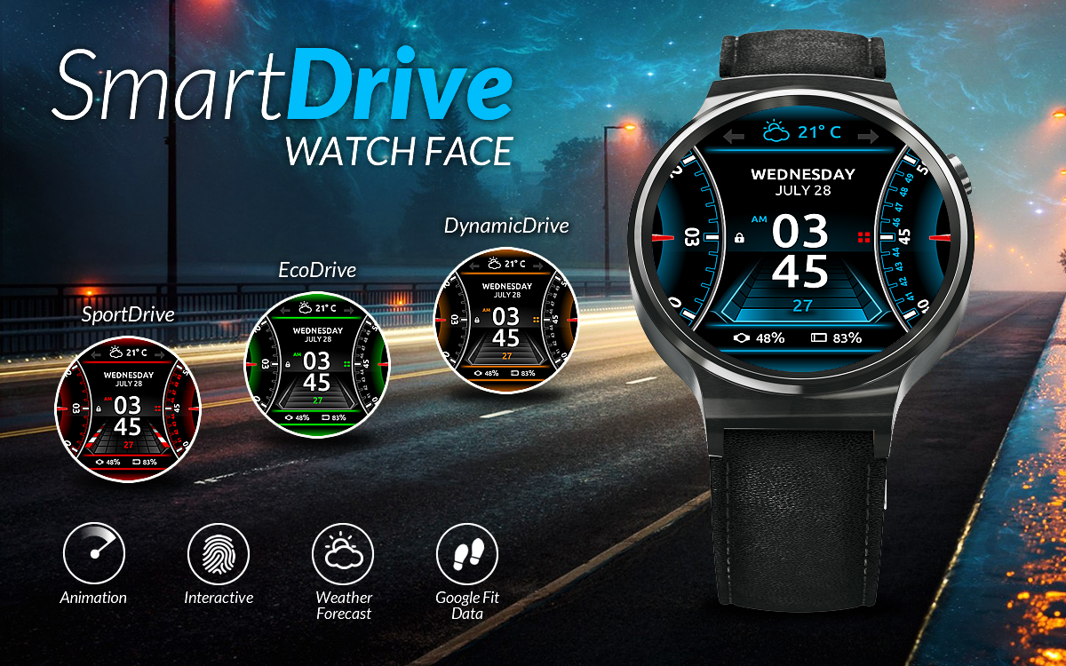 SmartDrive Watch Face Screenshot 0