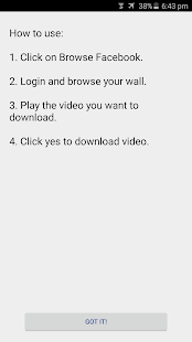 Video Downloader for Facebook Screenshot
