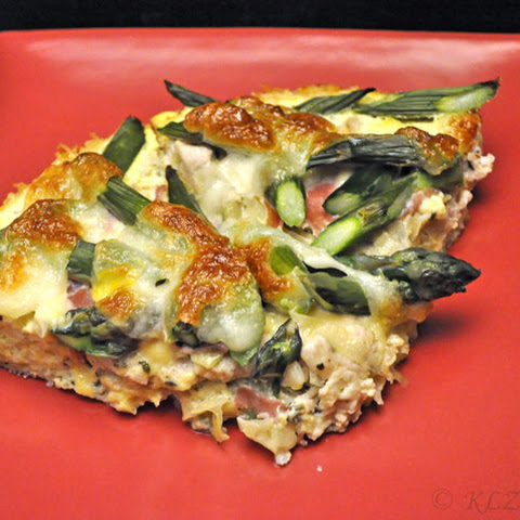 Asparagus and Turkey Quiche