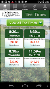 Riverdale Tee Times - screenshot