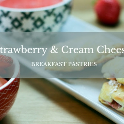 #SundaySupper Strawberry and Cream Cheese Breakfast Pastries with a Strawberry Dipping Sauce