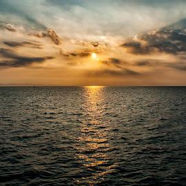 End of the day by Ashik Mahmud - Landscapes Cloud Formations ( nature, sunset, cloud, seascape, landscape )