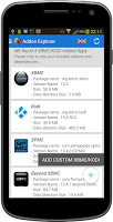Screenshot of XBMC/KODI ADDONS EXPLORER