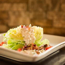 Wedge Salad by Bill Tiepelman - Food & Drink Plated Food ( salad, lettuce, wedge salad )