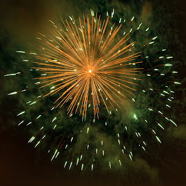 Fireworks over LaRonde by Yash Mehta - Abstract Fire & Fireworks ( sparkles, colors, fireworks, nightphotography, competition )