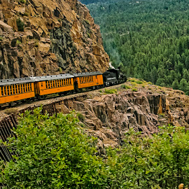 Comin' 'Round The Mountain by Sandy Friedkin - Transportation Trains ( passenger, mountains, durango-silverton, railroad, train,  )