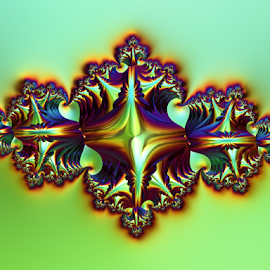by Cassy 67 - Illustration Abstract & Patterns ( iridescent, swirl, digital art, ornament, fractal, digital, fractals )