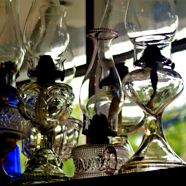 lamps on shelf by Martin Stepalavich - Artistic Objects Antiques