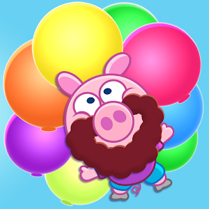 Piggy Free Balloon Pop Bubbles