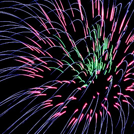 4th of July Fireworks by Debbie Quick - Public Holidays July 4th ( best 4th in the north, debbie quick, outdoors, adirondacks, outdoor photography, nightime, fireworks, 4th of july, fourth of july, debs creative images, lake george, night photography )