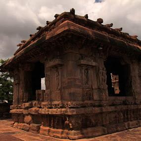 7th century Flat roof Temple at Pattadakkal by Srivenkata Subramanian - Buildings & Architecture Places of Worship ( chalukya architecture, patadakkal, karnataka, chalukya kings, india, 7th century )