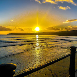 Irish Sunset by Richard Simpson - Landscapes Sunsets & Sunrises ( ireland, waves, sunset, waterford, sea, seascape, beach, irish )