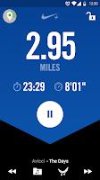 Screenshot of Nike+ Running