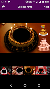 Birthday Cake Photo Frame APK for Bluestacks