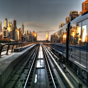 city tour by Scott Lorenzo - Transportation Trains ( urban, train, cityscape, city )