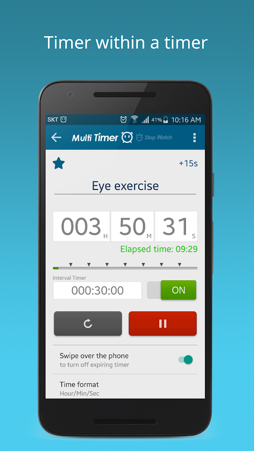 Multi Timer StopWatch Screenshot 2