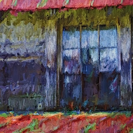 Piedmont Panes by Allen Crenshaw - Painting All Painting ( building, art, architecture, painting, north carolina )