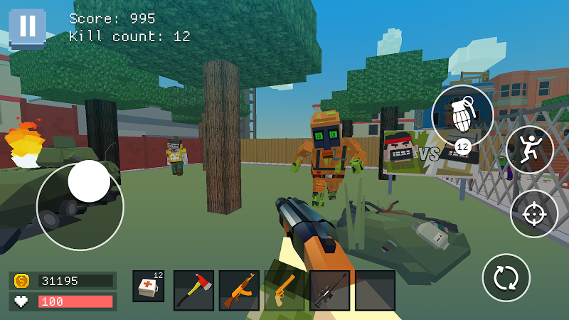 Pixel Combat: World of Guns Screenshot 1