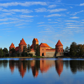 Old castle in Trakai, Lithuania by Diana Garbacauskiene - Buildings & Architecture Statues & Monuments