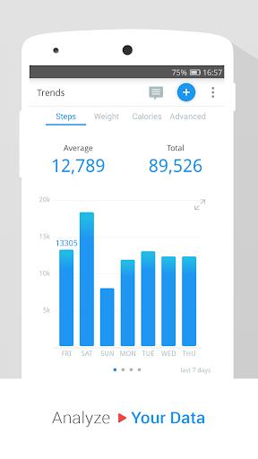 Pedometer, Step Counter & Weight Loss Tracker App screenshot 5