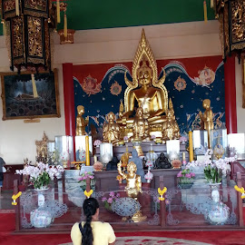 Buddhist Temple by Terry Palmer - Novices Only Portraits & People