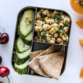Smashed Chickpeas with Pita